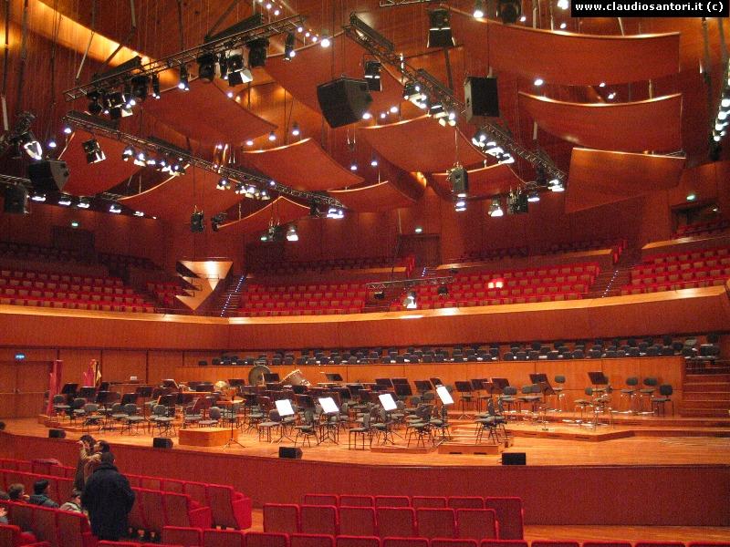 Auditorium roma for Auditorium parco della musica sala santa cecilia